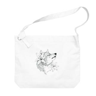 スカシユリ Big shoulder bags