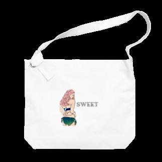 Ksukeのガール×イラスト Big shoulder bags