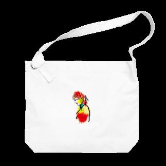 ちひろの赤リップ Big shoulder bags
