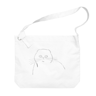 Zacchino!のじっと見る猫 Big shoulder bags