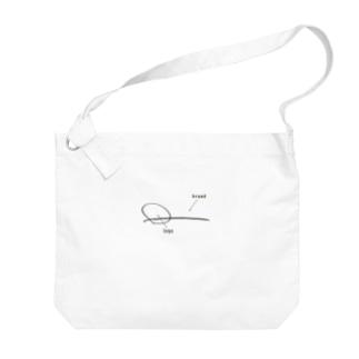 思いつき屋の○○ブランド・ロゴ Big shoulder bags
