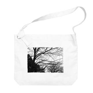 枯れ木 Big shoulder bags