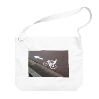金沢のチャリ Big shoulder bags