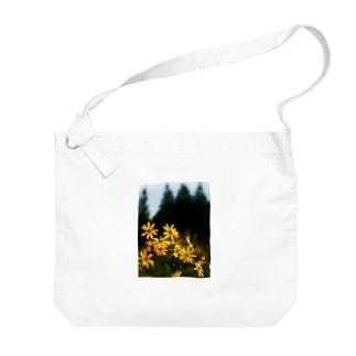 菊芋と樹木 DATA_P_139 tree Big shoulder bags