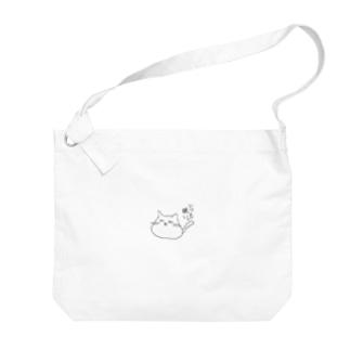 ゆるどろ猫 Big shoulder bags