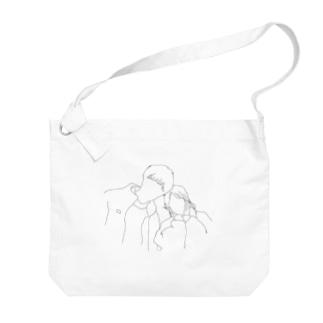 カップルシルエット Big shoulder bags