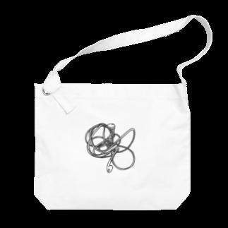 84maの絡まったイヤホン Big shoulder bags