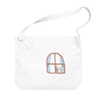 オカメインコ / みてる…!! Big shoulder bags