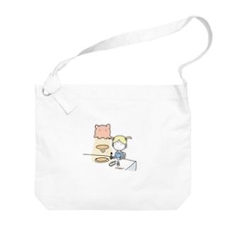 メンダコlovesパンケーキ Big shoulder bags
