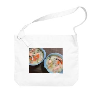 鮭のクリームシチュー Big shoulder bags