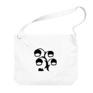 白黒草兎b Big shoulder bags