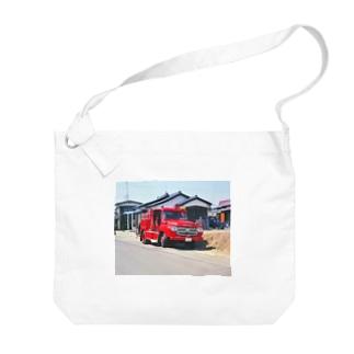 日本の特殊車両:消防車 Japanese fire engine in Showa period Big shoulder bags