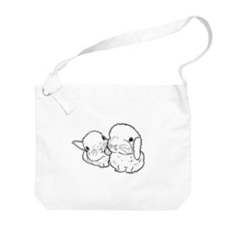 yukinokiiのベビうさ Big shoulder bags