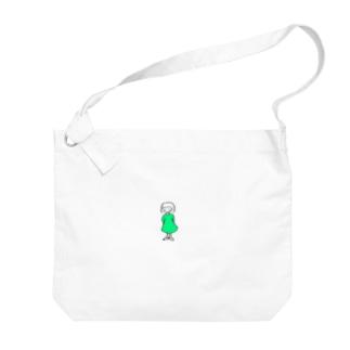 ワンピースの子 Big shoulder bags