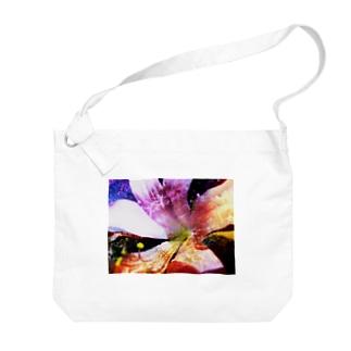 花と蜘蛛 Big shoulder bags
