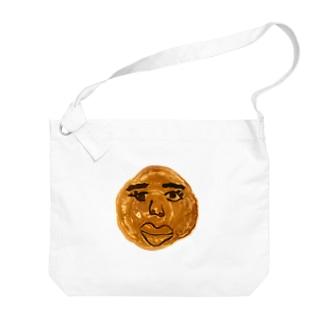 人面ホットケーキ Big Shoulder Bag