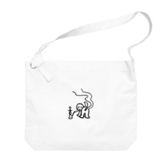 シーシャ犬 Big shoulder bags