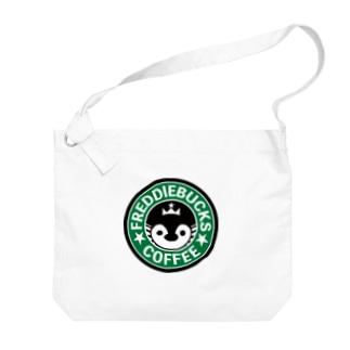 Freddiebucks Coffee Big shoulder bags