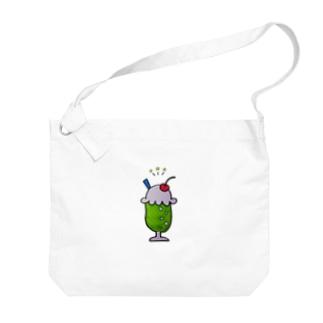 しゅわしゅわメロンソーダ Big shoulder bags