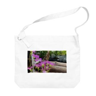 庭の紫片喰 Big shoulder bags