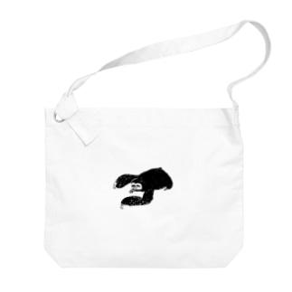 パンチパーマノナマケモノ Big shoulder bags