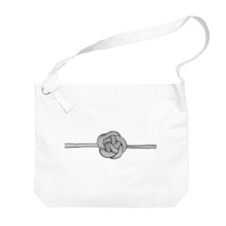 梅 結び Big shoulder bags