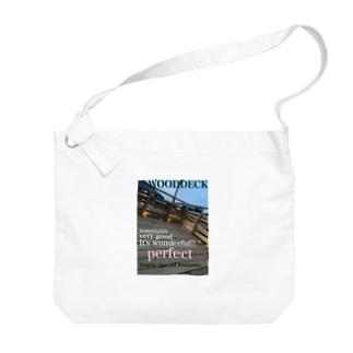 神戸英雄斗のウッドデッキプリ Big shoulder bags