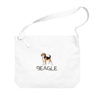 BEAGLEロゴ&イラスト Big shoulder bags
