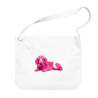 うちのオムツ犬 Big shoulder bags