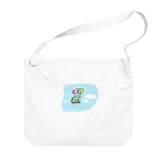 #空飛ぶ恐竜くん  Big shoulder bags