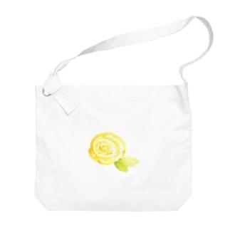 黄色のバラ Big shoulder bags