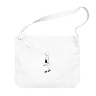 negi Big shoulder bags