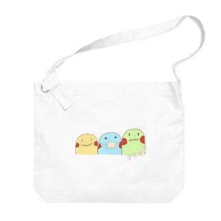 yuuオリジナルイラスト7 ポコちゃん三兄弟 Big shoulder bags