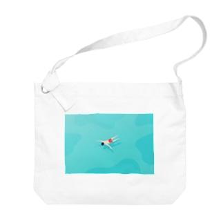 【全額寄付】 浮いている人 Big shoulder bags