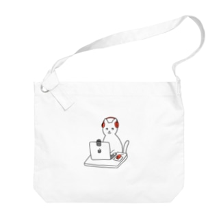 kaikai shopの巣ごもり猫とオンラインゲーム Big shoulder bags