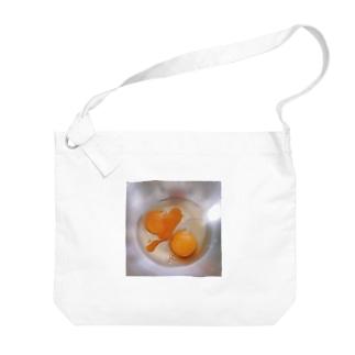ボウルの生卵 Big shoulder bags
