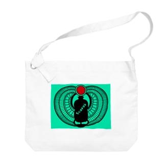 古代エジプト・有翼スカラベ Big shoulder bags