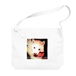 ちびっ子ハスキー チコリちゃん Big shoulder bags