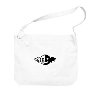 白黒くん Big shoulder bags
