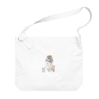 バルーン少女 Big shoulder bags
