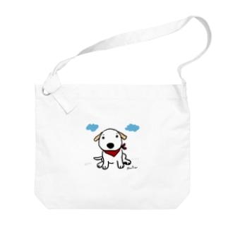 Dog Drawer Drawn by Dogのパピーラブラドール Big shoulder bags