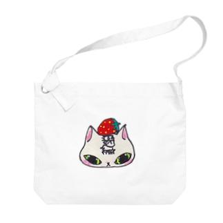 猫いちご Big shoulder bags