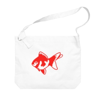 ムエックネの金魚 Big shoulder bags
