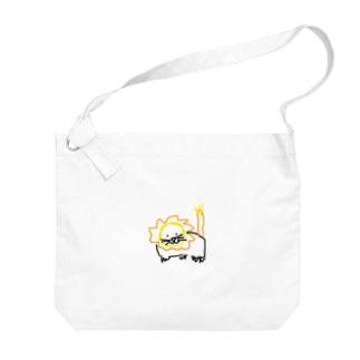 モモオンくん Big shoulder bags