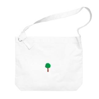 Smilebeansの丸い木 Big shoulder bags