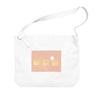 3個のたまご焼きちゃん Big shoulder bags