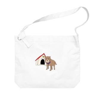 顔が四角い犬🐶 Big shoulder bags