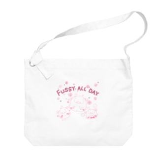 ぐずぐず★ベイビーピンク Big shoulder bags