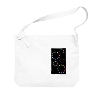 色相環の花火 Big shoulder bags