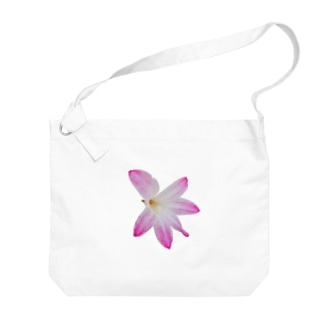 お花(ピンク) Big shoulder bags